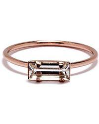 Bing Bang - Tiny Baguette Ring - Lyst