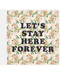 Ban.do Let's Stay Here Forever Beach Sheet - Paradiso Tropical Print - Multicolor