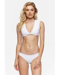 Tavik Alcamy Deep V Bralette Bikini Top - White