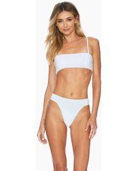 Ellejay Lauren Bandeau Bikini Top - White