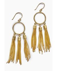 Lena Bernard Gigi Chain Tassel Dangle Earrings - Gold - Metallic
