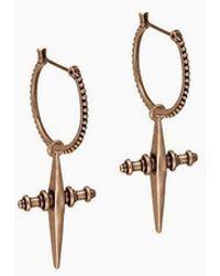 Luv Aj - Cross Dangle Hoop Earrings - Rose Gold - Lyst