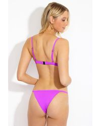 F E L L A. Otis Thin Strap Cheeky Bikini Bottom - Purple