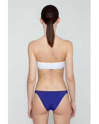 Evarae Nephele Skinny Strap Bikini Bottom - Blue