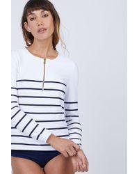 Heidi Klein Rash Vest - Nautical Stripe Print - Multicolor