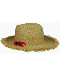 Hat Attack Thick Braid Fringed Rancher Hat - Natural/multi - Multicolour