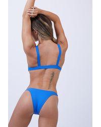 Vitamin A - California Ribbed High Cut Bikini Bottom - Beach Blue - Lyst