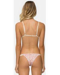 Tavik Heather Low Rise Bikini Bottom - Rose Pink Dawn Mahiki Animal Print