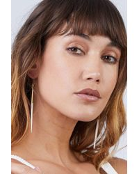 Soko Jewelry - Capped Quill Dangle Earrings - White/brass - Lyst