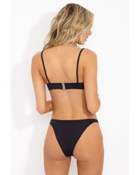Solid & Striped The Elsa High Cut Bikini Bottom - Black