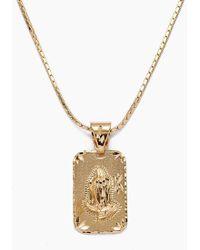 Vanessa Mooney The Praying Hands Gold Necklace - Gold - Metallic