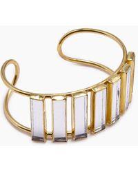 Lena Bernard - Damaris Mirrored Gold Brass Cuff Bracelet - Lyst