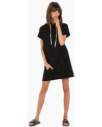 n:PHILANTHROPY Spades Hoodie Short Sleeve Mini Dress - Black