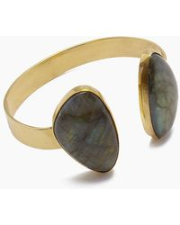 Lena Bernard Naenia Labradorite Gold Cuff Bracelet - Metallic
