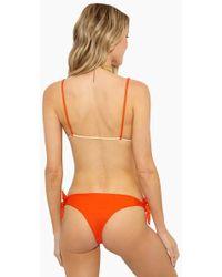 Aila Blue - Joel Side Tie Bikini Bottom - Pomelo - Lyst