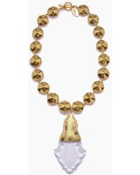 Lena Bernard Orina Gold Bauble Crystal Pendant Necklace - Metallic
