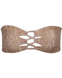 Tori Praver Swimwear - Napili Lace-up Bandeau Bikini Top - Snake - Lyst