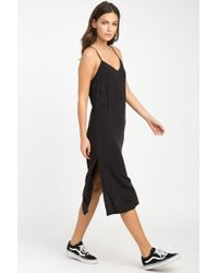 RVCA Chasing Shadows Midi Dress - Black