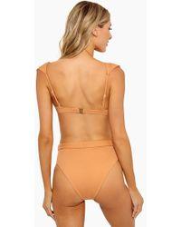 Onia Emily Belted High Waisted Bikini Bottom - Nude - Natural