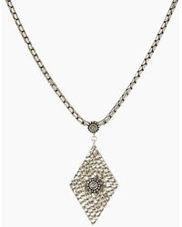 Luv Aj The Hammered Triangle Charm Necklace - Metallic