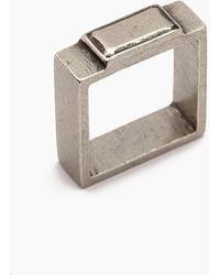Vanessa Mooney Fight The Power Pewter Square Ring - Metallic