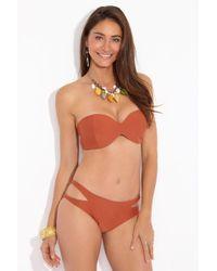 Acacia Swimwear Coconut Bandeau Bikini Top - Orange