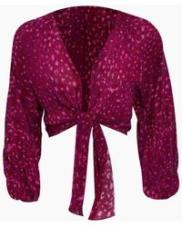 Adriana Degreas Silk Crepe De Chine Voluminous Sleeves Shirt - Pink