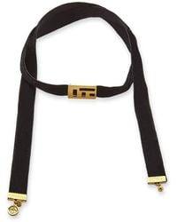 Brenda Grands Jewelry Velvet Abelia Choker Necklace - Black