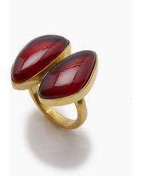 Lena Bernard Naenia Red Quartz Ring - Metallic