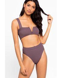 L*Space Lee Lee V-wire Bikini Top - Pebble - Purple