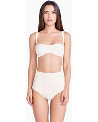 Triya Nina Underwire Bandeau Strap Bikini Top - White