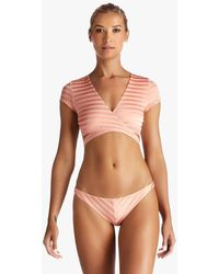 Vitamin A Ballerina Wrap Bikini Top - Pink