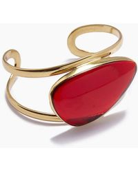 Lena Bernard Naeva Red Quartz Gold Cuff Bracelet