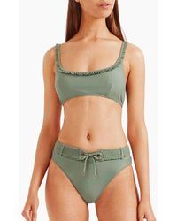 Tigerlily Halle Scoop Bralette Bikini Top - Green