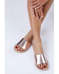 Matisse Rose Gold Cabana Sandals - Multicolour