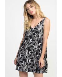 RVCA Landline Woven Dress - Black