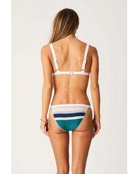 Suboo Splice Knitted Triangle Bikini Top - Blue