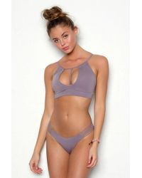 Peixoto Sasha Strappy Bikini Bottom - Pebble - Multicolour