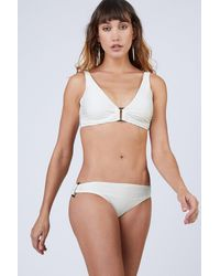 Heidi Klein D-g Rectangle Ribbed Bikini Top - White