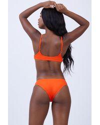 L*Space Estella Side Cut Out Bikini Bottom - Orange