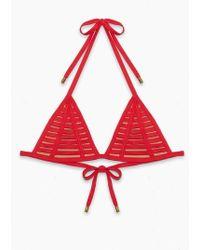 Beach Bunny - Hard Summer Cheeky Tie Side Bikini Bottom - Red - Lyst