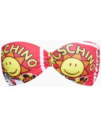 Moschino Bandeau Fascia Bikini Top - Pink