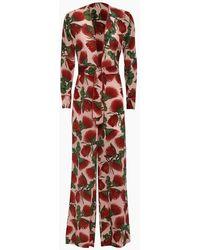 Adriana Degreas Silk Crepe De Chine Knot Detail Jumpsuit - Multicolour