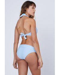 Heidi Klein Fold Over Bikini Bottom - Blue
