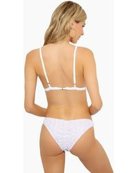 Lolli Juliet Eyelet Low-rise Scrunch Bikini Bottom - White