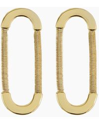 Luv Aj - Snake Chain Loop Studs - Gold - Lyst