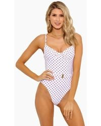 Onia Danielle Underwire One Piece Swimsuit - Red Polka Dots