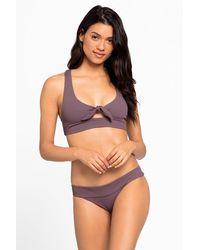 L*Space - Tara Front Bow Tie Bikini Top - Lyst