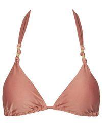ViX Paula Knotted Triangle Bikini Top - Multicolour