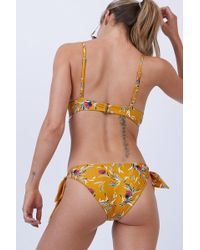 Beach Riot Jacey Tie Side Bikini Bottom - Yellow